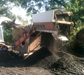 Mobile Topsoil & Fill Dirt Screening Cumming GA - Chipper LLC Tree Service - multch1